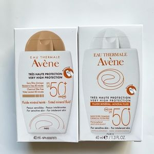 New in Box TWO Avene Mineral SPF 50